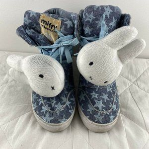 Miffy Two Percent Girls Blue Sneakers Shoes Sz 6.5